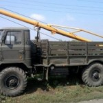 Ямобур БМ-302 на шасси ГАЗ-66