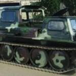 Гесеничный вездеход ГАЗ-71