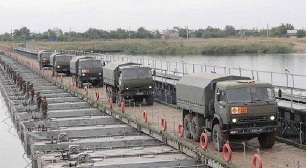 Наплавной ЖД-мост НЖМ-56